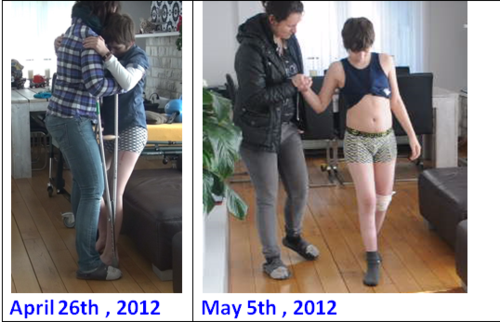 Walking progress in 12 days