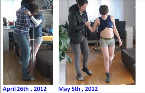 Walking progress in 12 days